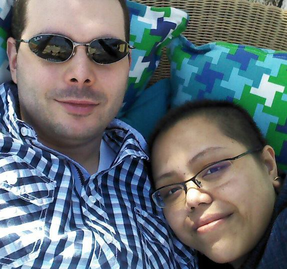 me and felecci in bahammas